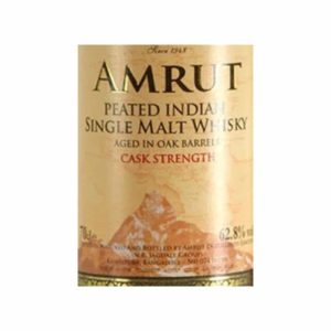 Amrut Peated Indian Single Malt Whisky Cask Strength - Sendgifts.com