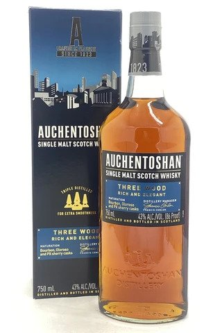 Auchentoshan Three Wood Single Malt Scotch Whisky - Sendgifts.com