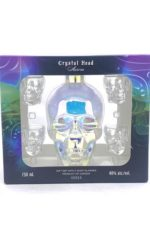 Crystal Head Aurora Vodka Limited Edition With 4 Shot Glasses!